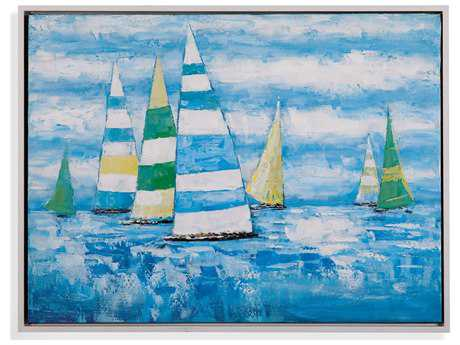 Bassett Mirror Pan Pacific Coastal Regatta Painting