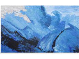 Painting Bassett Mirror Pan Pacific ''Blue Motion'' Painting