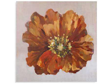Painting Bassett Mirror Old World ''Orange Poppy'' Painting