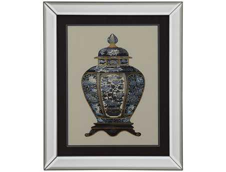 Bassett Mirror Old World Blue Porcelain Vase I Wall Art