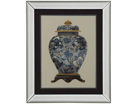 Bassett Mirror Old World Blue Porcelain Vase II Wall Art