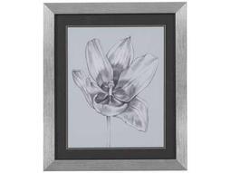 Bassett Mirror Thoroughly Modern Silvery Blue Tulips II Wall Art