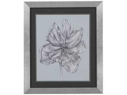 Bassett Mirror Thoroughly Modern Silvery Blue Tulips IV Wall Art