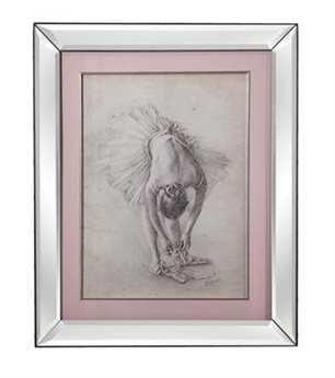 Bassett Mirror Hollywood Glam Antique Ballerina Study I Wall Art