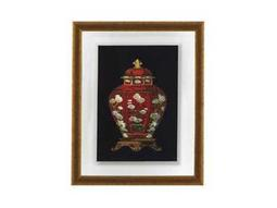 Bassett Mirror Old World Red Porcelain Vase I Wall Art