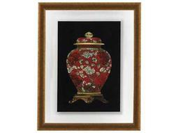 Bassett Mirror Old World Red Porcelain Vase II Wall Art