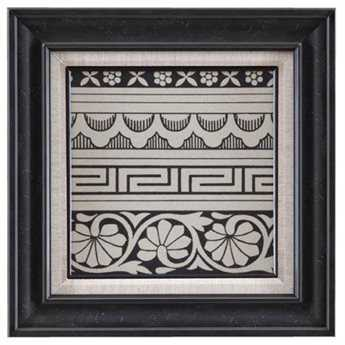 Bassett Mirror Belgian Modern Ornamental Tile Motif III Wall Art