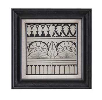 Bassett Mirror Belgian Modern Ornamental Tile Motif VII Wall Art