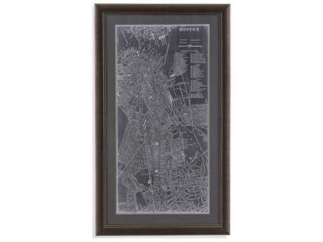 Bassett Mirror Belgian Luxe Graphic Map of Boston Painting