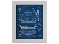 Bassett Mirror Pan Pacific Antique Ship Blueprint I Painting