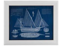 Bassett Mirror Pan Pacific Antique Ship Blueprint III Painting