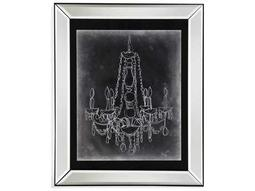 Bassett Mirror Hollywood Glam Chalkboard Chandelier Sketch I Painting