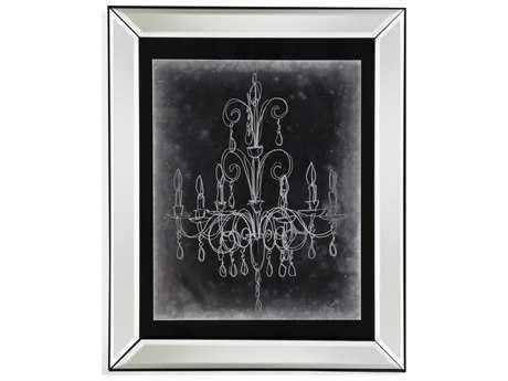 Bassett Mirror Hollywood Glam Chalkboard Chandelier Sketch II Painting