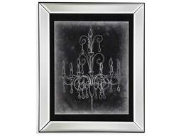 Bassett Mirror Hollywood Glam Chalkboard Chandelier Sketch II Painting