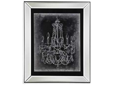 Bassett Mirror Hollywood Glam Chalkboard Chandelier Sketch III Painting