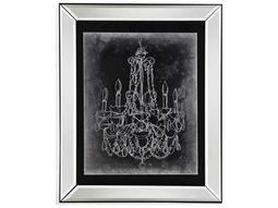 Bassett Mirror Hollywood Glam Chalkboard Chandelier Sketch III Painting