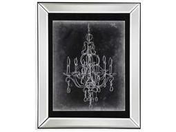 Bassett Mirror Hollywood Glam Chalkboard Chandelier Sketch IV Painting