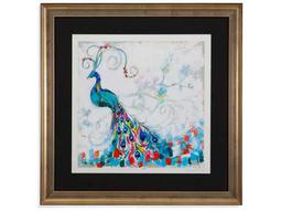 Bassett Mirror Hollywood Glam Confetti Peacock II Painting