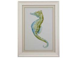 Bassett Mirror Pan Pacific Watercolor Seahorse II Painting