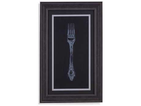Painting Bassett Mirror Belgian Luxe ''Ornate Cutlery on Black I'' Painting