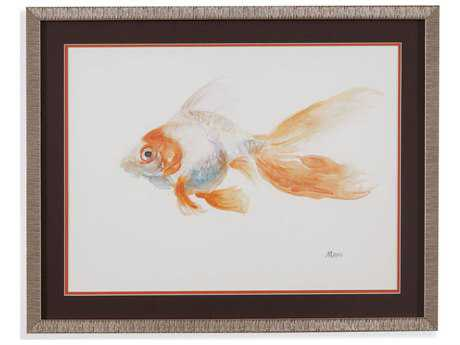 Painting Bassett Mirror Pan Pacific ''Goldfish III'' Painting
