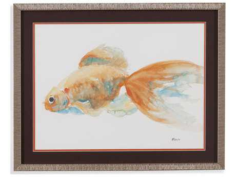 Painting Bassett Mirror Pan Pacific ''Goldfish IV'' Painting