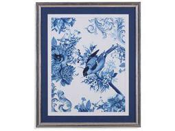 Painting Bassett Mirror Hollywood Glam ''Bird & Branch in Indigo I'' Painting