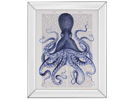 Painting Bassett Mirror Pan Pacific ''Blue Octopus 3'' Painting