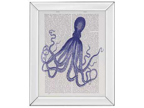 Painting Bassett Mirror Pan Pacific ''Blue Octopus 4'' Painting