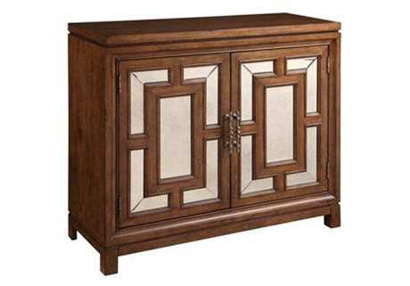 Bassett Mirror Belgian Modern Brown Crosby Two Door Hall Chest
