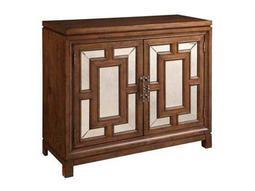 Bassett Mirror Belgian Modern Brown Crosby Two Door Hall Chest