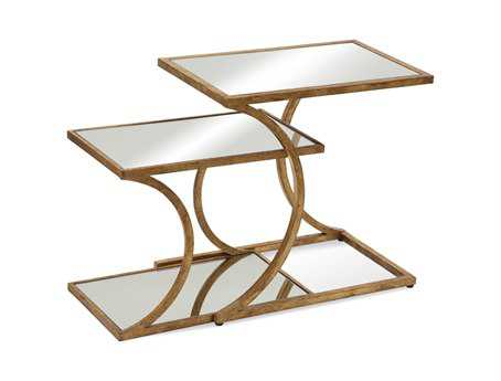 Bassett Mirror Thoroughly Modern 22 Square Gold Clement Nesting Accent Table