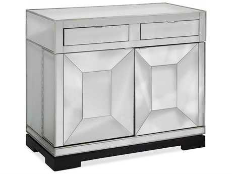 Bassett Mirror Thoroughly Modern Taney Rolling Bar Cabinet