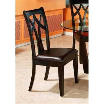 Bassett Mirror Thoroughly Modern Espresso Elation Wood Back Side Chair