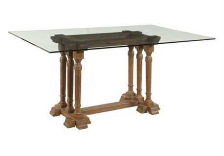 Bassett Mirror Belgian Modern 77 x 46 Rectangular Brown Pemberton Dining Table