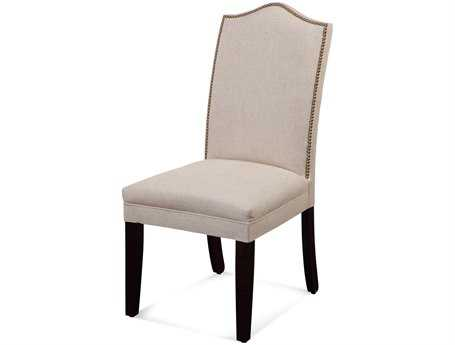 Bassett Mirror Old World Camelback Nailhead Parsons Dining Chair