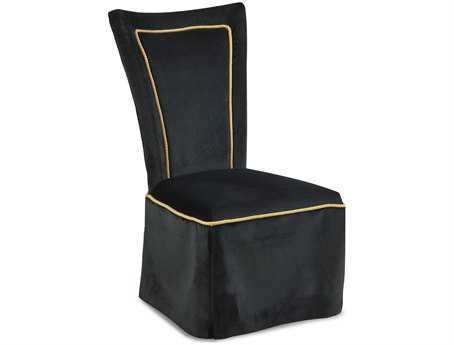 Bassett Mirror Thoroughly Modern Black Wendover Parson Dining Side Chair