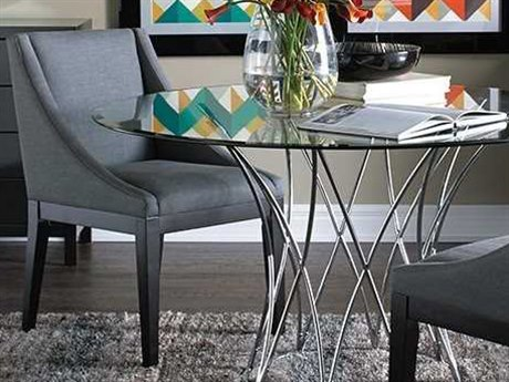 Bassett Mirror Thoroughly Modern Gray Corbett Parson Dining Side Chair