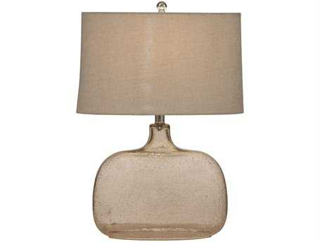 Bassett Mirror Portman Clear Seeded Glass Table Lamp