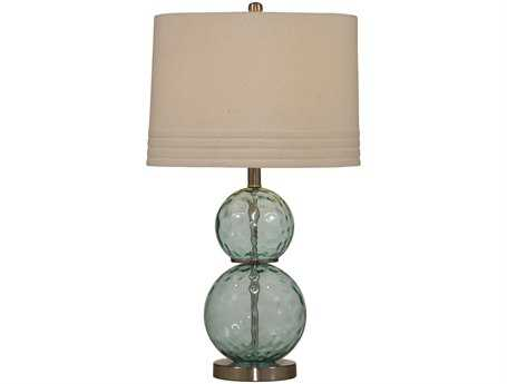 Bassett Mirror Barika Blue Green  Dimple Glass Table Lamp