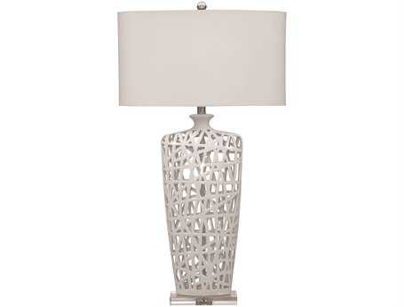 Bassett Mirror Erowin Gloss White Ceramic Table Lamp