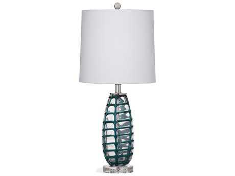 Bassett Mirror Thoroughly Modern 12 x 12 Green Corona Table Lamp