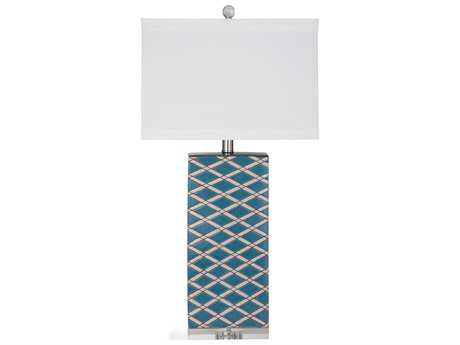 Bassett Mirror Old World Blue Keene Table Lamp