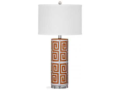 Bassett Mirror Thoroughly Modern Orange Everson Table Lamp