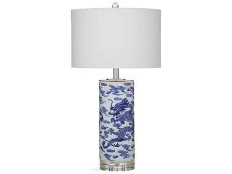 Bassett Mirror Old World Prescott Blue and White Table Lamp