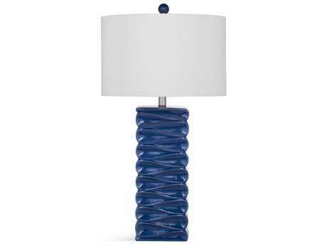 Bassett Mirror Thoroughly Modern Zoey Blue Table Lamp