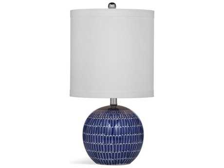 Bassett Mirror Thoroughly Modern Alden Blue and White Table Lamp
