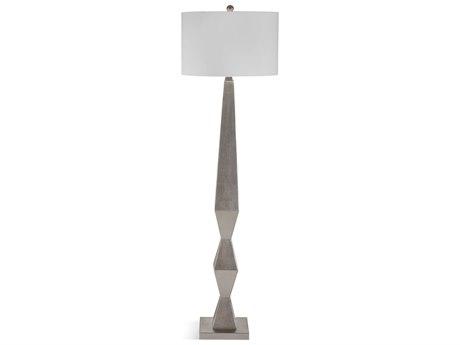 Bassett Mirror Bricolage Silver Leaf Floor Lamp