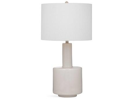 Bassett Mirror Glass White Buffet Lamp