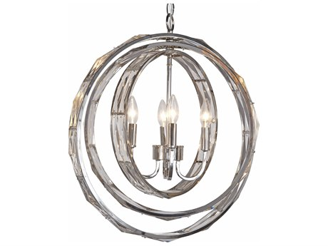 Bassett Mirror Polished Nickel 21'' Wide Medium Chandelier BAL3586C